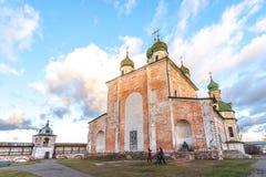 Dormition del Theotokos Imagen de archivo libre de regalías