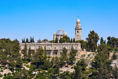 Dormition der Mutter der Gott-Abtei in Jerusalem Lizenzfreie Stockbilder