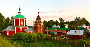 Dormition der Theotokos Kathedrale in Suzdal. Lizenzfreie Stockfotos