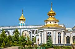 Dormition domkyrka av den ryska ortodoxa kyrkan i Tasjkent - Uzbekistan Royaltyfri Bild