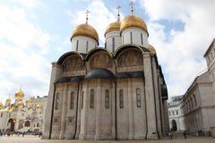 Dormition domkyrka, i Kreml moscow Ryssland Royaltyfri Foto