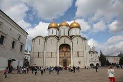 Dormition domkyrka, i Kreml moscow Ryssland Royaltyfria Foton