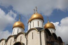 Dormition domkyrka, i Kreml moscow Ryssland Royaltyfria Bilder