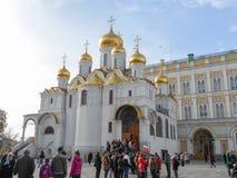 Dormition domkyrkaMoskva Arkivfoton