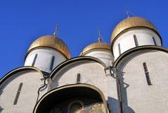 Dormition kyrka i MoskvaKreml Lokal för Unesco-världsarv Arkivbilder
