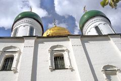 Dormition orthodox church. Kremlin in Kolomna, Russia. Royalty Free Stock Photography