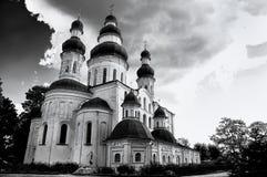 Dormition (Uspensky) Kathedraal van Eletsky-het klooster van Vrouwen in Chernihiv Royalty-vrije Stock Fotografie