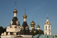 Dormitionkathedraal in Dmitrov het Kremlin dichtbij Moskou, Rusland royalty-vrije stock fotografie