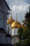 Dormitionkerk van Moskou het Kremlin De Plaats van de Erfenis van de Wereld van Unesco royalty-vrije stock fotografie