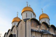 Dormitionkerk van Moskou het Kremlin Kleurenfoto Stock Fotografie