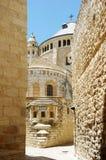 Dormitions-Abtei auf dem Mount Zion stockbild