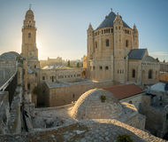 Dormitions-Abtei, in Jerusalem Stockbilder