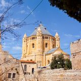 Dormitions-Abteikirche Alte Stadt jerusalem israel Stockbild
