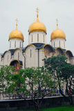 Dormitions church. Moscow Kremlin. UNESCO World Heritage Site. Royalty Free Stock Photos