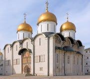 Dormitions-Kathedrale, der Kreml, Moskau, Russland lizenzfreie stockfotografie