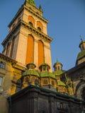 Dormitions-Kirche in Lvov Stockfotografie