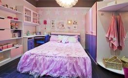 Dormitorio 07 de los niños foto de archivo