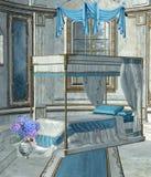 Dormitorio 1 del palacio stock de ilustración