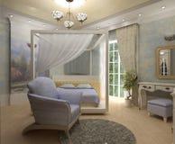 dormitorio 3D Fotografía de archivo libre de regalías