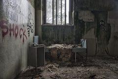 Dormitorio abandonado Imagenes de archivo