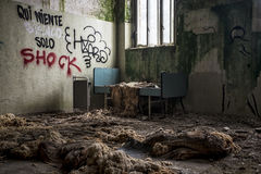 Dormitorio abandonado Fotos de archivo