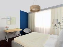 Dormitorio acogedor brillante Imagen de archivo libre de regalías