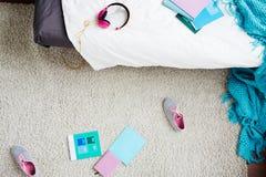 Dormitorio adolescente sucio Fotos de archivo