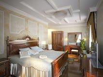 Dormitorio agradable Fotografía de archivo
