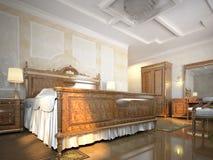Dormitorio agradable Foto de archivo libre de regalías