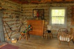 Dormitorio Antiqued HDR imagenes de archivo