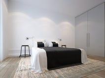 Dormitorio blanco Imágenes de archivo libres de regalías