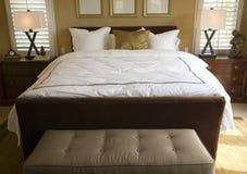 Dormitorio casero de lujo. Imagenes de archivo