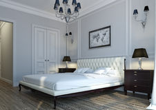Dormitorio clásico Fotografía de archivo