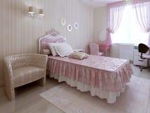 Dormitorio clásico del estilo Imagenes de archivo