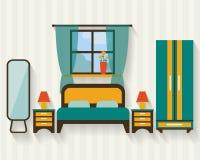 Dormitorio con muebles Imagenes de archivo