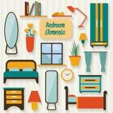 Dormitorio con muebles Fotos de archivo