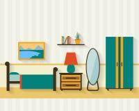 Dormitorio con muebles Foto de archivo libre de regalías