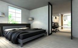 Dormitorio contemporáneo Foto de archivo libre de regalías
