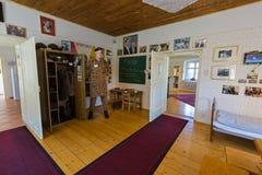 Dormitorio de la niñez de Arnold Schwarzenegger en Arnold Alois Schwarzenegger Museum Thal, Estiria en Austria imágenes de archivo libres de regalías