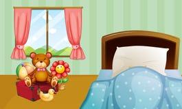 Dormitorio de los niños stock de ilustración