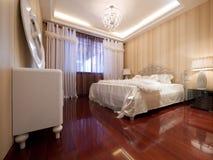 Dormitorio de lujo Fotografía de archivo libre de regalías