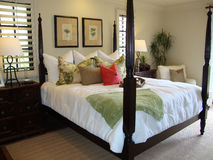 Dormitorio de lujo hermoso Fotos de archivo libres de regalías