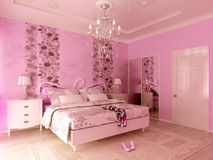 Dormitorio de Teengirl Fotos de archivo