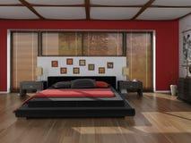 Dormitorio del estilo del zen Imagenes de archivo