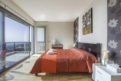 Dormitorio del estilo rural Imagen de archivo
