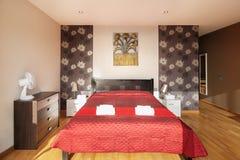 Dormitorio del estilo rural Foto de archivo