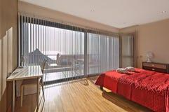 Dormitorio del estilo rural Imagen de archivo libre de regalías