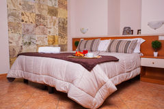 Dormitorio del hotel de Ares Foto de archivo