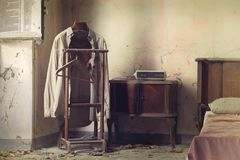 Dormitorio del italiano del vintage imagen de archivo