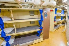 Dormitorio del marinero del acorazado imagen de archivo